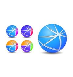 striped sphere balls vector image