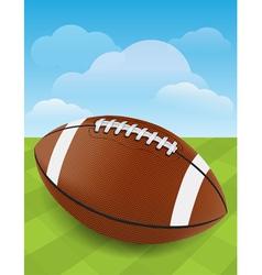 Football on Green Field vector image vector image