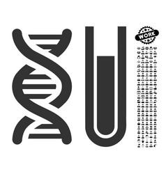 Genetic analysis icon with work bonus vector