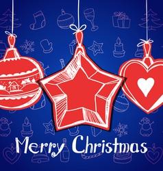 Happy Christmas card vector image vector image