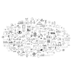 infographics collection hand drawn doodle sketch vector image vector image