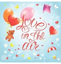 Love in the air vector image