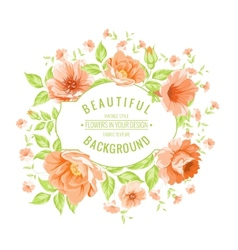 Luxurious color peony label vector image
