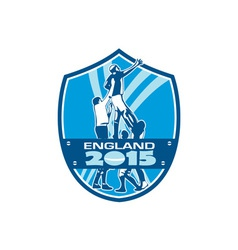 Rugby Lineout England 2015 Shield vector image vector image