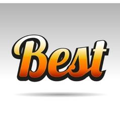 Best Title for Labels on Light Background vector image vector image