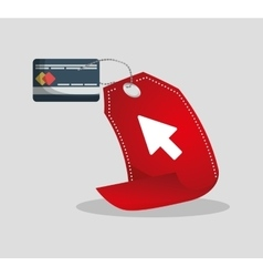 credit card tag price shopping online concept vector image