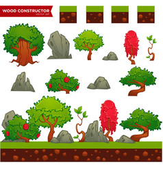 fantasy wood constructor for your mobile or vector image vector image
