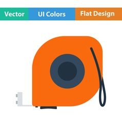 Flat design icon of constriction tape measure vector