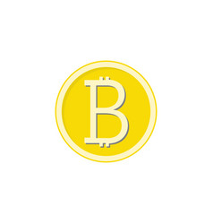 gold bitcoin flat icon finance and business vector image vector image