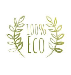 Handdrawn eco label vector