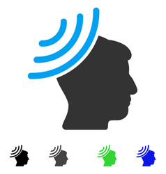 radio reception mind flat icon vector image