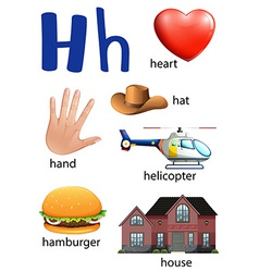 Things that start with the letter H vector image