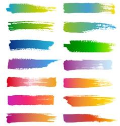 Watercolor brush strokes set vector