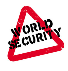 world security rubber stamp vector image