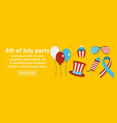 4th of july party banner horizontal concept vector image