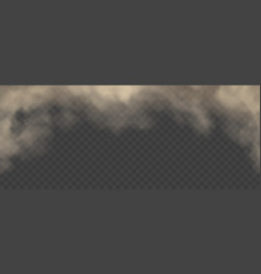 Abstract cloud or dust gray fog cigarette smoke vector
