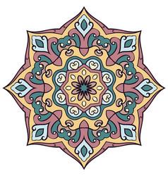 Abstract colored mandala vector