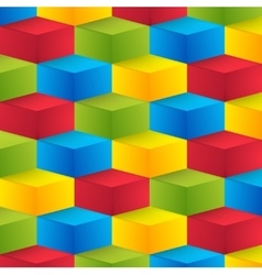 Abstract geometric shape from cubes vector