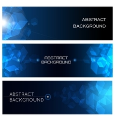 Abstract Horizontal Background Set vector image vector image
