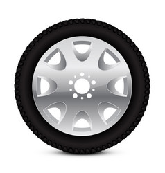 Alloy wheel with tyre vector