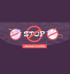 Animal testing concept vector