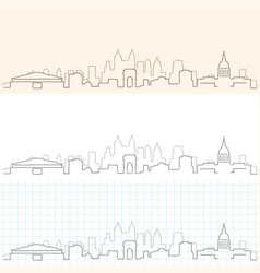 Atlanta hand drawn skyline vector
