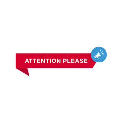 Attention banner warning signal template ribbon vector