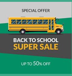 Back to school sale banner vector