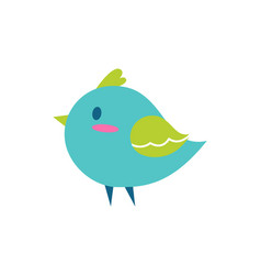 bird of blue color small vector image