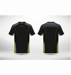 Black and green layout e-sport t-shirt design vector