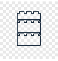 Blocks toy concept linear icon isolated on vector