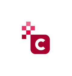 C font template design vector