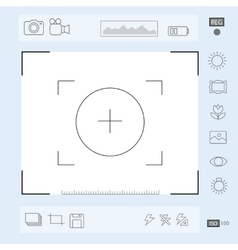 Camera viewfinder display Exposure and vector