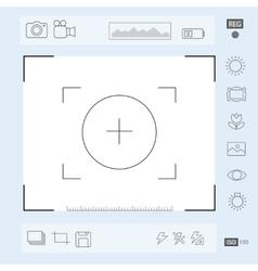 Camera viewfinder display exposure vector