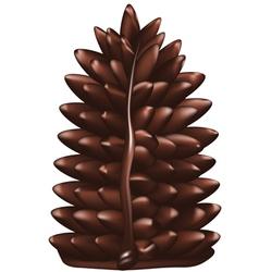 Christmas tree made of chocolate vector