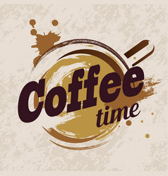 coffee cup stylized emblem template vector image