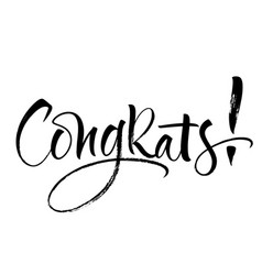 congrats lettering vector image