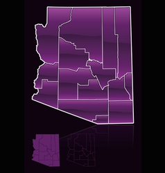 counties of arizona vector image vector image