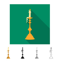 Design candle and candlestick logo set vector