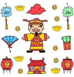 Doodle of New Year Chinese celebration vector
