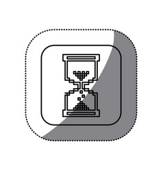 Figure symbol hourglass icon vector