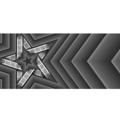 film strip star vector image