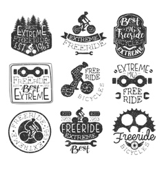 Freeride Bikes Vintage Stamp Collection vector
