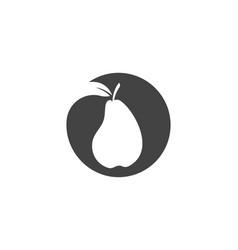 fresh pear fruit food vector image