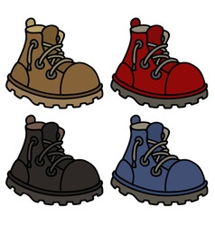 Funny color leather boots vector