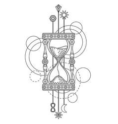 Geometric sandglass symbol vector