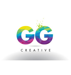 gg g g colorful letter origami triangles design vector image