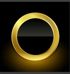 Golden empty badge label button design vector