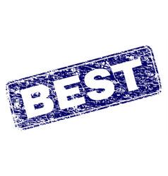 Grunge best framed rounded rectangle stamp vector