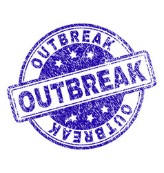 Grunge textured outbreak stamp seal vector